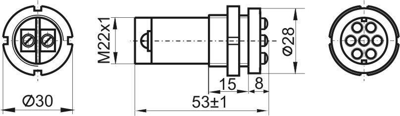 Чертеж светодиодной лампы ЛСО 14