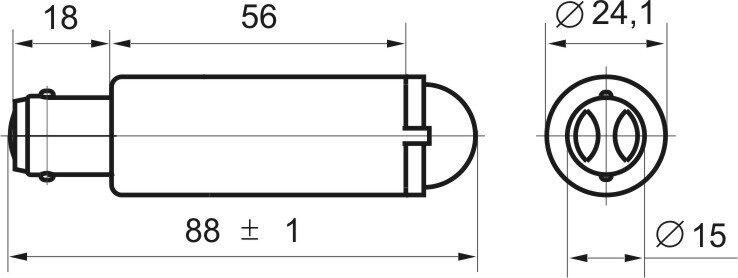 Чертеж светодиодной коммутаторной лампы СКЛ 1