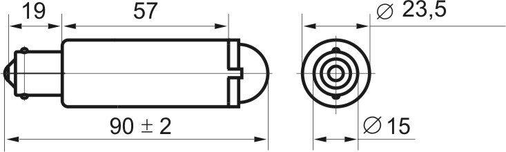 Чертеж светодиодной коммутаторной лампы СКЛ 3